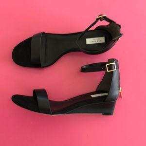 Shoes - Cole Haan Rossi 7.5 black wedge sandal new